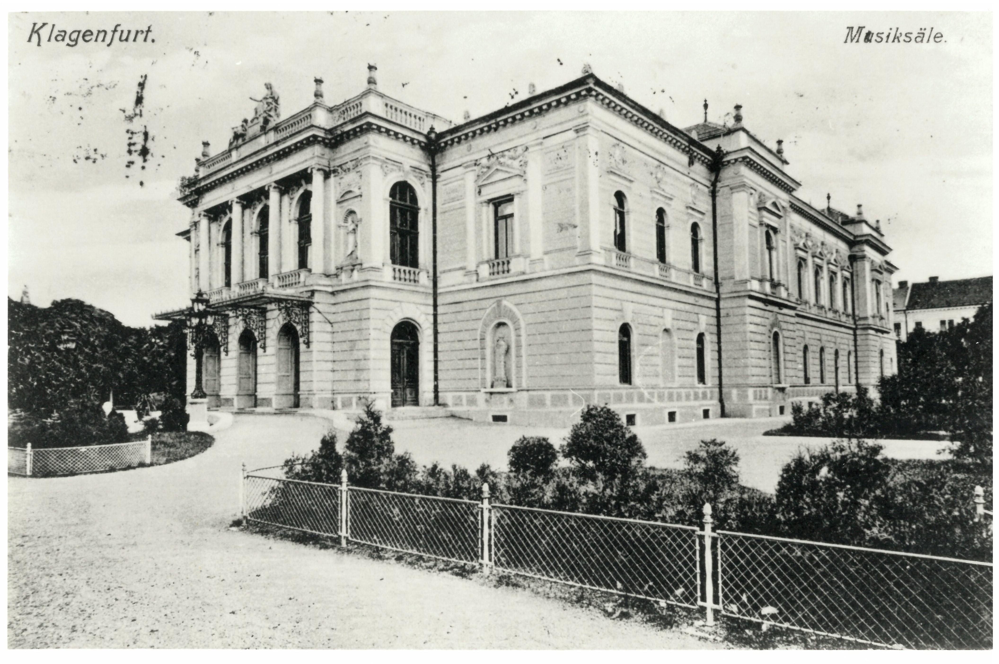 Konzerthaus im Jahre 1900